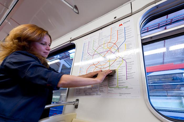 Новые вагонные схемы метро в